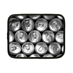 Black And White Doses Cans Fuzzy Drinks Netbook Case (Small)