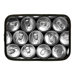 Black And White Doses Cans Fuzzy Drinks Netbook Case (Medium)