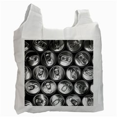 Black And White Doses Cans Fuzzy Drinks Recycle Bag (One Side)