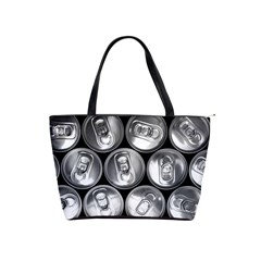 Black And White Doses Cans Fuzzy Drinks Shoulder Handbags
