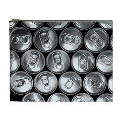 Black And White Doses Cans Fuzzy Drinks Cosmetic Bag (XL)