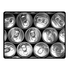 Black And White Doses Cans Fuzzy Drinks Fleece Blanket (Small)