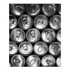 Black And White Doses Cans Fuzzy Drinks Shower Curtain 60  x 72  (Medium)