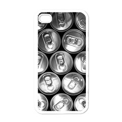 Black And White Doses Cans Fuzzy Drinks Apple iPhone 4 Case (White)