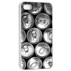 Black And White Doses Cans Fuzzy Drinks Apple iPhone 4/4s Seamless Case (White)