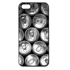 Black And White Doses Cans Fuzzy Drinks Apple iPhone 5 Seamless Case (Black)