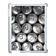 Black And White Doses Cans Fuzzy Drinks Apple iPad 3/4 Case (White)