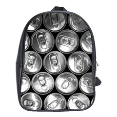 Black And White Doses Cans Fuzzy Drinks School Bags (XL)
