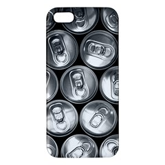 Black And White Doses Cans Fuzzy Drinks Apple iPhone 5 Premium Hardshell Case