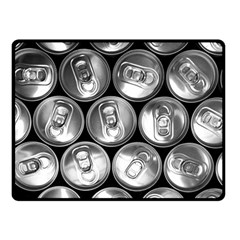 Black And White Doses Cans Fuzzy Drinks Double Sided Fleece Blanket (Small)
