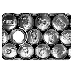 Black And White Doses Cans Fuzzy Drinks Kindle Fire HDX Flip 360 Case