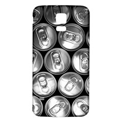 Black And White Doses Cans Fuzzy Drinks Samsung Galaxy S5 Back Case (White)