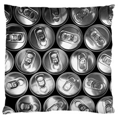 Black And White Doses Cans Fuzzy Drinks Standard Flano Cushion Case (Two Sides)