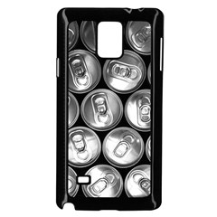 Black And White Doses Cans Fuzzy Drinks Samsung Galaxy Note 4 Case (Black)