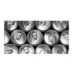 Black And White Doses Cans Fuzzy Drinks Satin Wrap