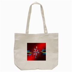 Board Circuits Trace Control Center Tote Bag (Cream)