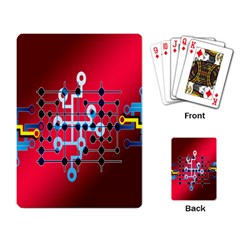 Board Circuits Trace Control Center Playing Card
