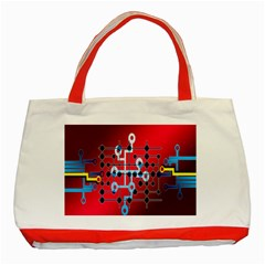 Board Circuits Trace Control Center Classic Tote Bag (Red)