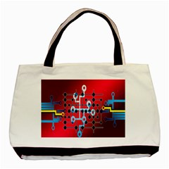 Board Circuits Trace Control Center Basic Tote Bag (Two Sides)