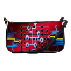 Board Circuits Trace Control Center Shoulder Clutch Bags
