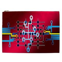Board Circuits Trace Control Center Cosmetic Bag (XXL)