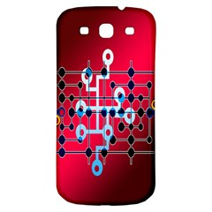 Board Circuits Trace Control Center Samsung Galaxy S3 S III Classic Hardshell Back Case