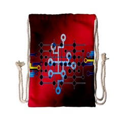 Board Circuits Trace Control Center Drawstring Bag (Small)