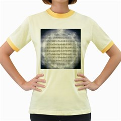 Binary Computer Technology Code Women s Fitted Ringer T-Shirts
