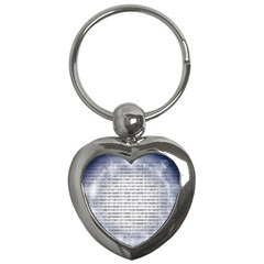 Binary Computer Technology Code Key Chains (Heart)