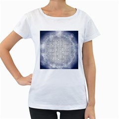 Binary Computer Technology Code Women s Loose-Fit T-Shirt (White)