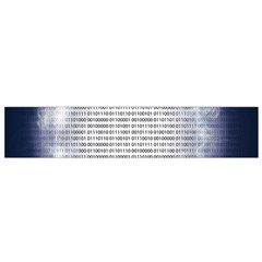 Binary Computer Technology Code Flano Scarf (Small)