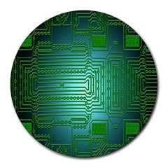 Board Conductors Circuits Round Mousepads