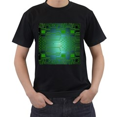 Board Conductors Circuits Men s T Shirt (black) (two Sided)