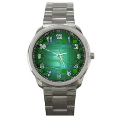 Board Conductors Circuits Sport Metal Watch