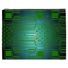 Board Conductors Circuits Cosmetic Bag (XXXL)