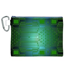 Board Conductors Circuits Canvas Cosmetic Bag (XL)
