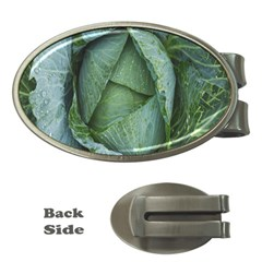 Bright Cabbage Color Dew Flora Money Clips (Oval)