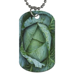 Bright Cabbage Color Dew Flora Dog Tag (One Side)