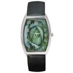 Bright Cabbage Color Dew Flora Barrel Style Metal Watch