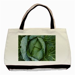 Bright Cabbage Color Dew Flora Basic Tote Bag