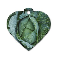 Bright Cabbage Color Dew Flora Dog Tag Heart (two Sides)