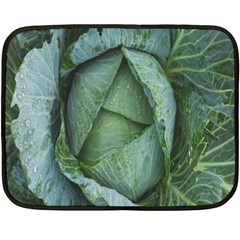 Bright Cabbage Color Dew Flora Double Sided Fleece Blanket (Mini)