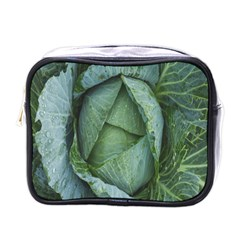 Bright Cabbage Color Dew Flora Mini Toiletries Bags
