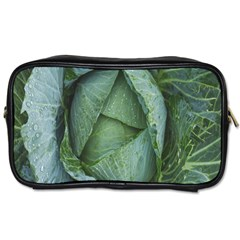 Bright Cabbage Color Dew Flora Toiletries Bags 2-Side