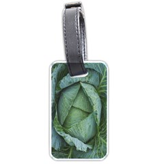 Bright Cabbage Color Dew Flora Luggage Tags (two Sides)