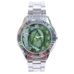 Bright Cabbage Color Dew Flora Stainless Steel Analogue Watch