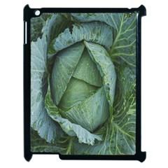 Bright Cabbage Color Dew Flora Apple iPad 2 Case (Black)