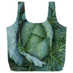 Bright Cabbage Color Dew Flora Full Print Recycle Bags (l)