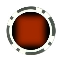 Brown Gradient Frame Poker Chip Card Guard