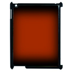 Brown Gradient Frame Apple iPad 2 Case (Black)